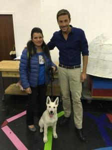 L'allevatrice Tania Schiavinato in una foto ricordo con il conduttore di Cronache animali MASSIMILIANO OSSINI